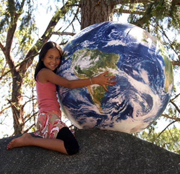 puhallettava maapallo suuri