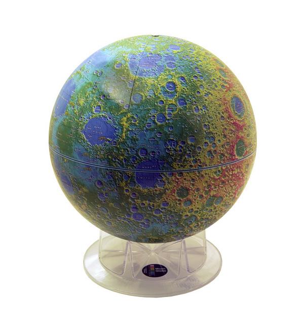 kuu karttapallo topografia