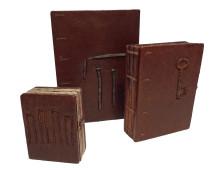 Muistikirja käsinsidottu ruostekopti