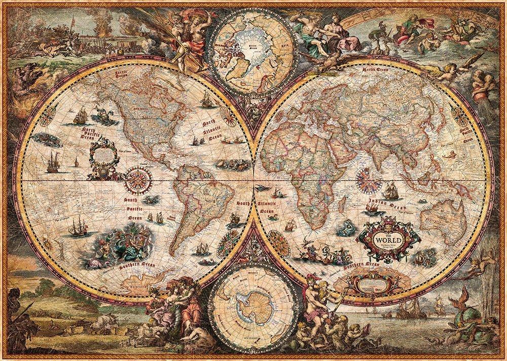 Vintage maailmankartta