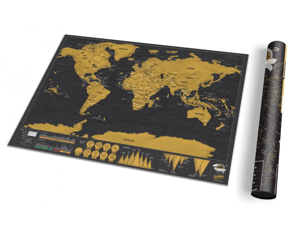 Scratch map de luxe travel