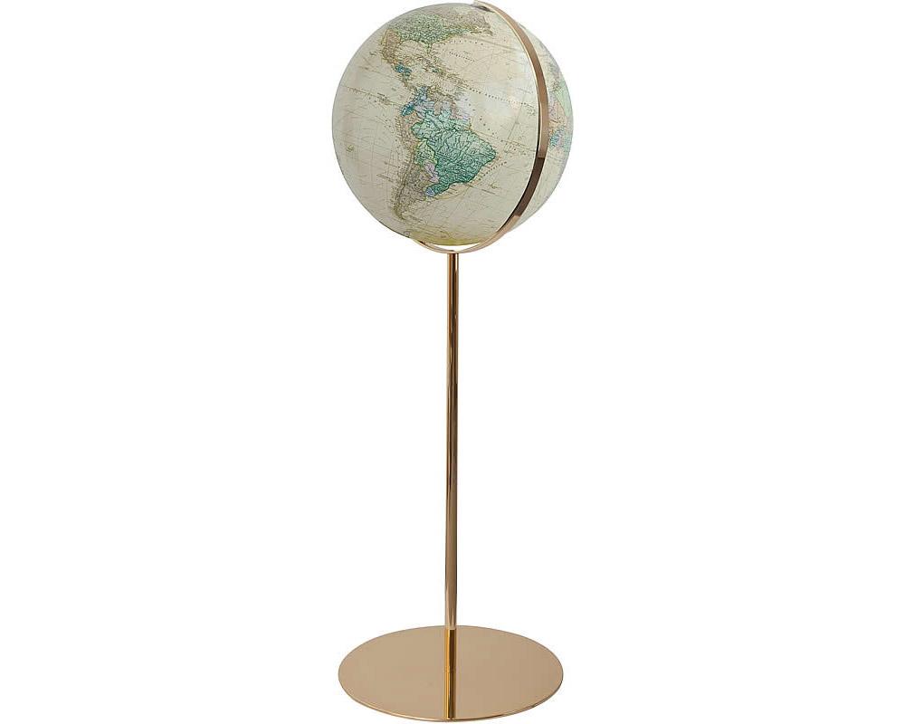 Karttapallo antiikki lattia kulta