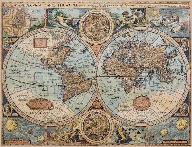 Vanhanaikainen maailmankartta