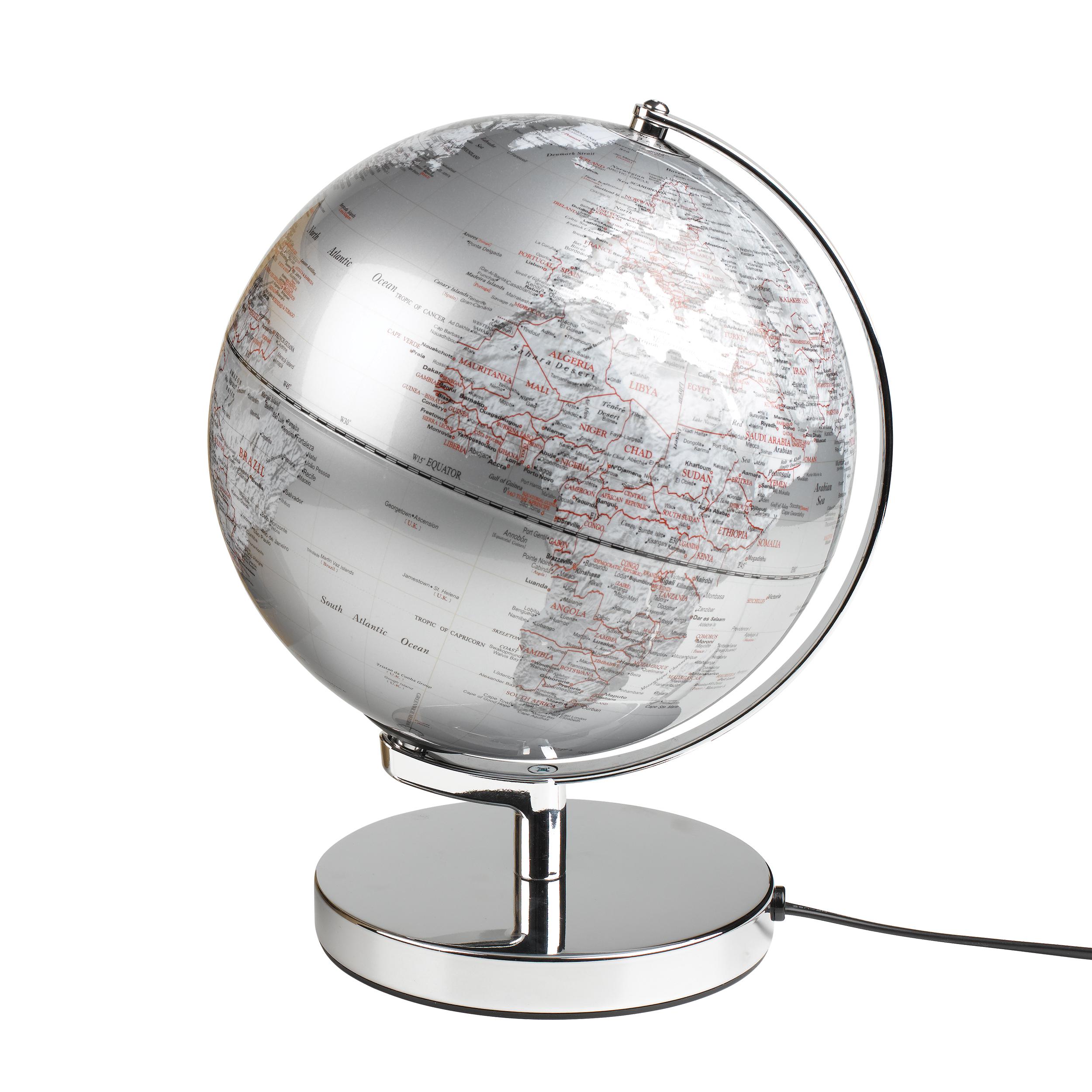 Karttapallo hopeinen