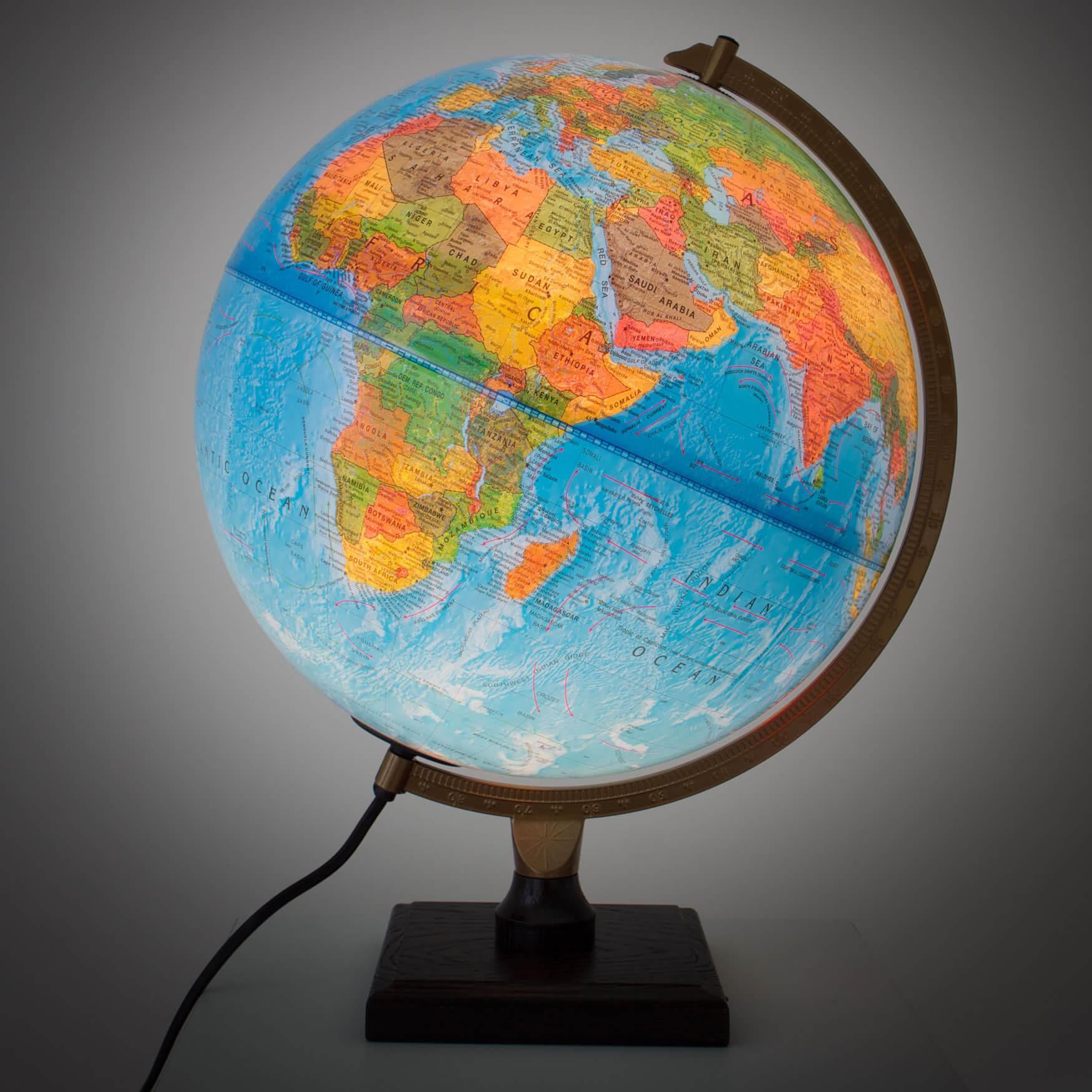 Karttapallo valolla